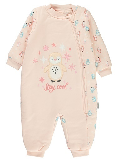 Civil Baby Kız Bebek Uyku Tulumu Somon